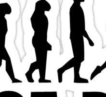Shot Put Evolution Sticker