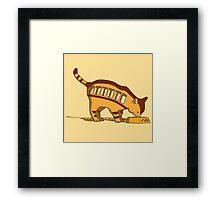 Cat Bus Totoro Framed Print