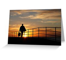 Fisherman on Jetty  Greeting Card
