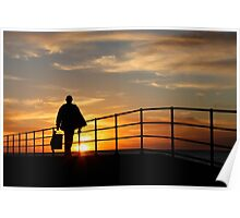 Fisherman on Jetty  Poster