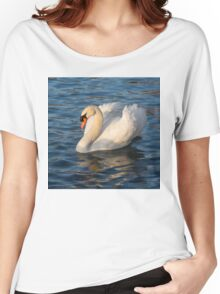 Pride and Grace - Swan Gliding on Satiny Ripples Women's Relaxed Fit T-Shirt