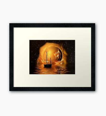 Molten Sunset Framed Print