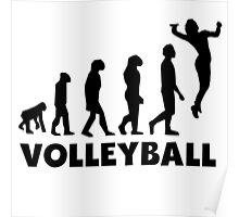 Volleyball Serve Evolution Poster