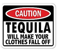 Caution: Tequila vintage sign Photographic Print