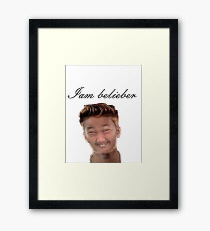 do you love Justin? Framed Print