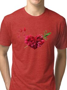 Heart of the petals and peony leaves Tri-blend T-Shirt