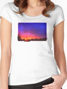 Royal Salmon Sunrise Women's Fitted Scoop T-Shirt