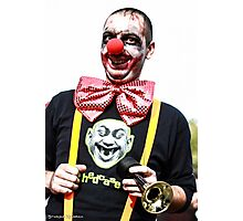 The Dumb Zombie Clown Photographic Print