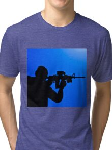 Shooting silhouette Tri-blend T-Shirt