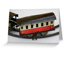 old train toy Greeting Card