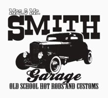 Mrs.& Mr. Smith Hot-Rod Garage Kids Tee
