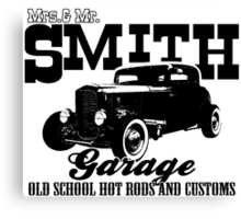 Mrs.& Mr. Smith Hot-Rod Garage Canvas Print