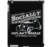 Outlaw's Garage. Socially unaccepted Hot Rod. iPad Case/Skin
