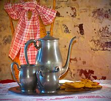 Silver Tea Pot and Cookies by imagetj