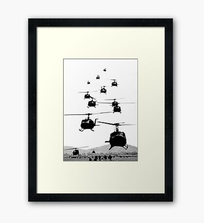UH1 Huey Helicopters Framed Print