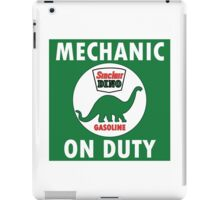 Sinclair Dino Mechanic on Duty vintage sign iPad Case/Skin