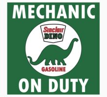 Sinclair Dino Mechanic on Duty vintage sign Kids Clothes