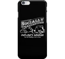 Outlaw's Garage. Socially unaccepted Hot Rods dark bkg iPhone Case/Skin