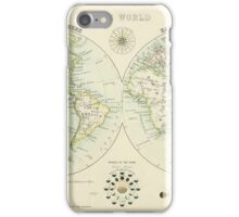 Antique world map iPhone Case/Skin