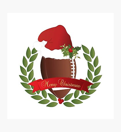Christmas Football Photographic Print