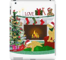 Night Before Christmas - Preppy Golden Retrievers iPad Case/Skin