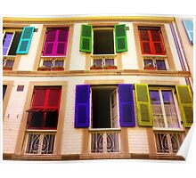 Colourful Windows Poster