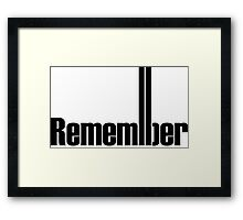 Remembering 9/11 Framed Print