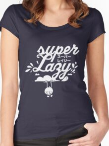 Super Lazy - Cloud Hanging (white) Women's Fitted Scoop T-Shirt