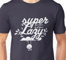 Super Lazy - Cloud Hanging (white) Unisex T-Shirt