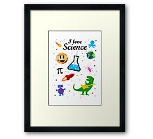 I Love Science (black version) Framed Print