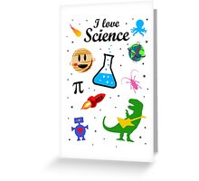 I Love Science (black version) Greeting Card