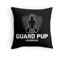 Nerdy Doggo Guard Pup Throw Pillow