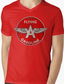 Flying A Gasoline rusted version Mens V-Neck T-Shirt