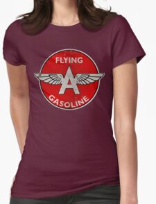 Flying A Gasoline rusted version Womens Fitted T-Shirt