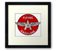 Flying A Gasoline rusted version Framed Print