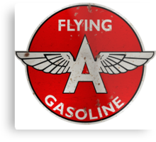 Flying A Gasoline rusted version Metal Print