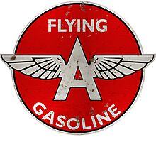 Flying A Gasoline rusted version Photographic Print