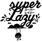Super Lazy - Cloud Hanging (black) by inkdesigner