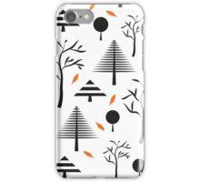Simple geometric christmas trees iPhone Case/Skin