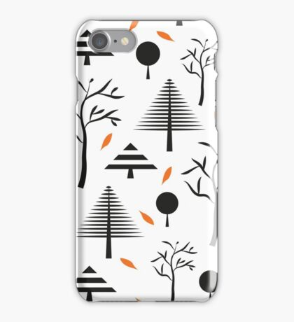 Simple geometric christmas trees iPhone Case/Skin