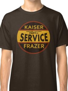 Kaiser Frazer Approved Service vintage sign (brown) Classic T-Shirt