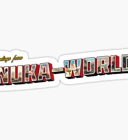 Nuka-World Vintage Postcard Sticker