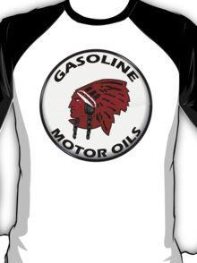 Red Indian Gasoline vintage sign reproduction crystal vers. T-Shirt