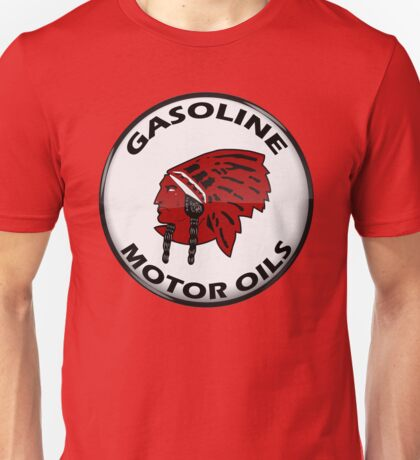 Red Indian Gasoline vintage sign reproduction crystal vers. Unisex T-Shirt
