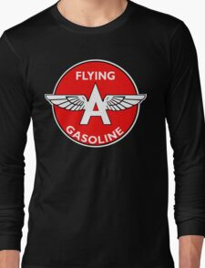 Flying A Gasoline vintage sign Long Sleeve T-Shirt