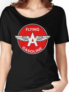 Flying A Gasoline vintage sign Women's Relaxed Fit T-Shirt