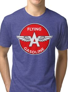 Flying A Gasoline vintage sign Tri-blend T-Shirt