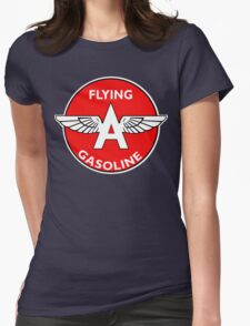 Flying A Gasoline vintage sign Womens Fitted T-Shirt