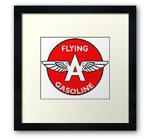 Flying A Gasoline vintage sign Framed Print