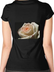 rose on black background Women's Fitted Scoop T-Shirt